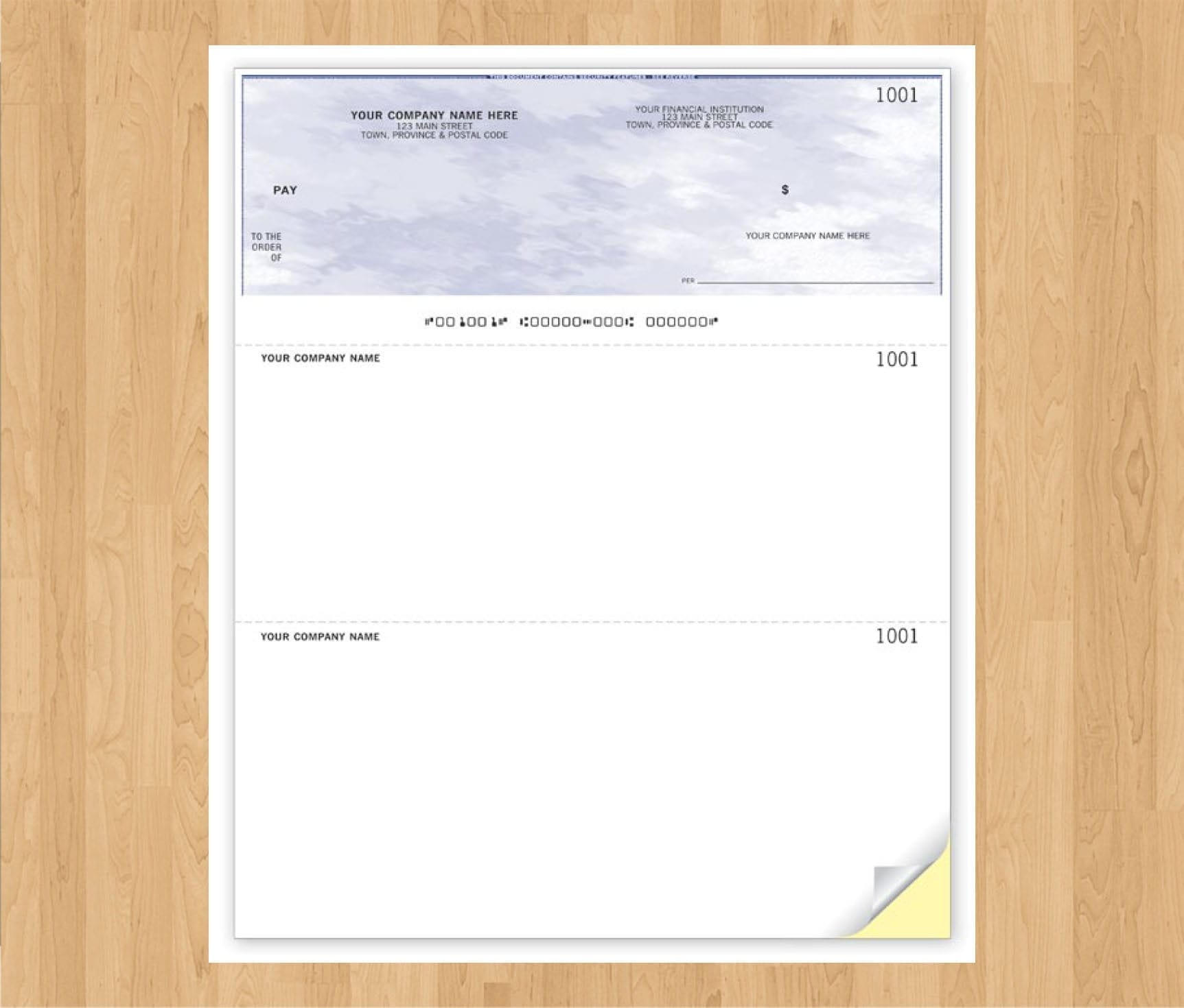 Computer Cheque Top