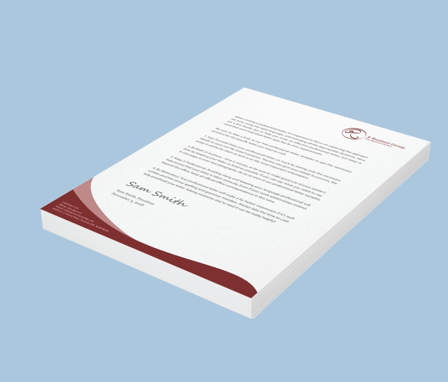 Letterhead Sample 4